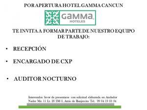 hoteles-gamma