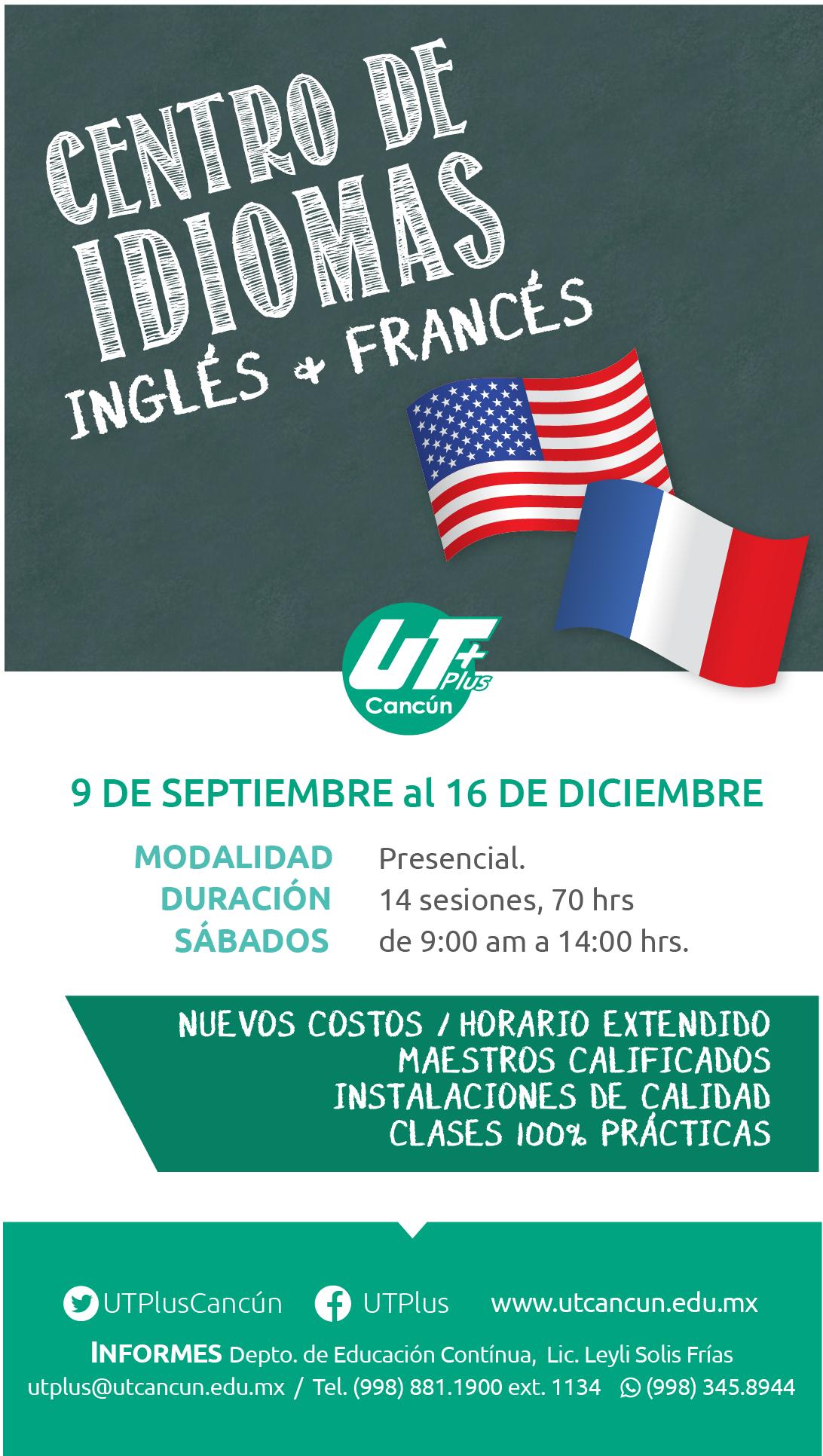 Cursos de Idiomas Septiembre – Diciembre