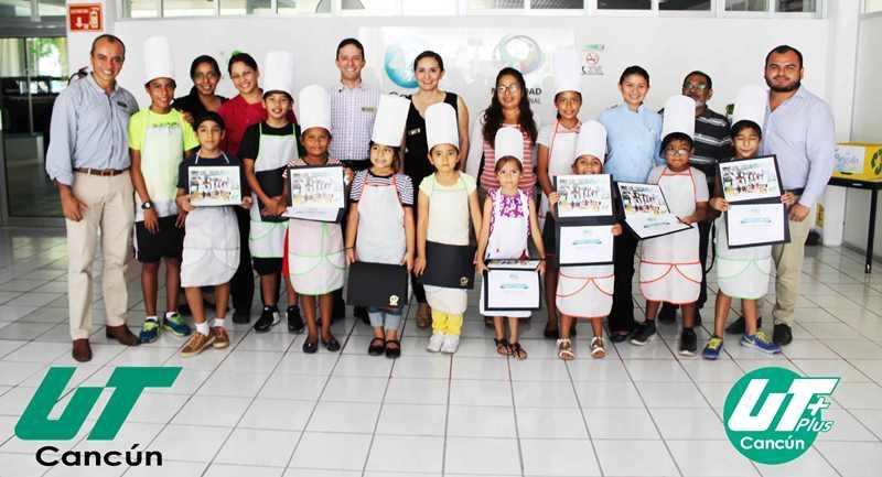 Termina curso de cocina para niños UT Kids