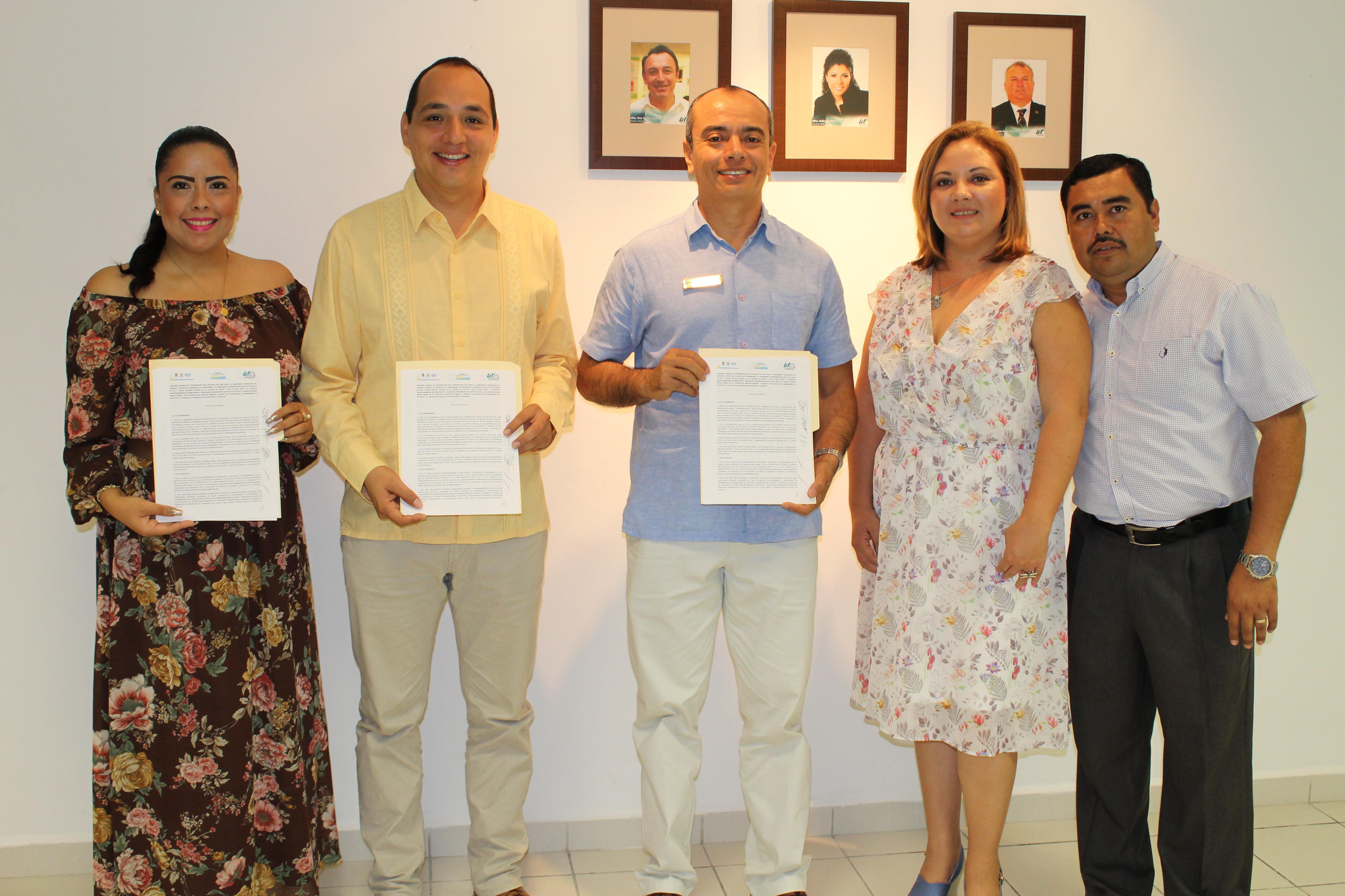 Firman Convenio de Colaboración IQIT y UT Cancún